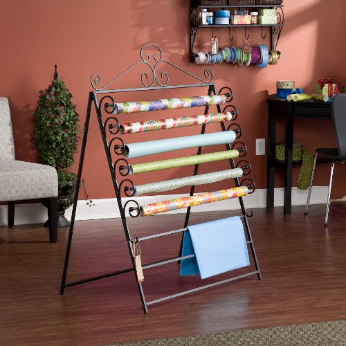 Holly & Martin Evelyn Easel/Wall Mount Craft Storage Rack-Black