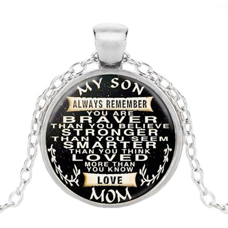 To My Son Dog Tag Necklace Military Fathers Day Family Love Stainless Steel Military Dog Tag Necklace