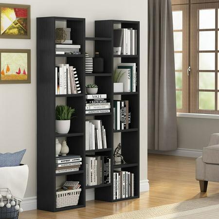 Tribesigns 5-Shelf Modern Bookcase, Organizer Storage Bookshelf for Home  Office, Living Room or Bedroom (Black)