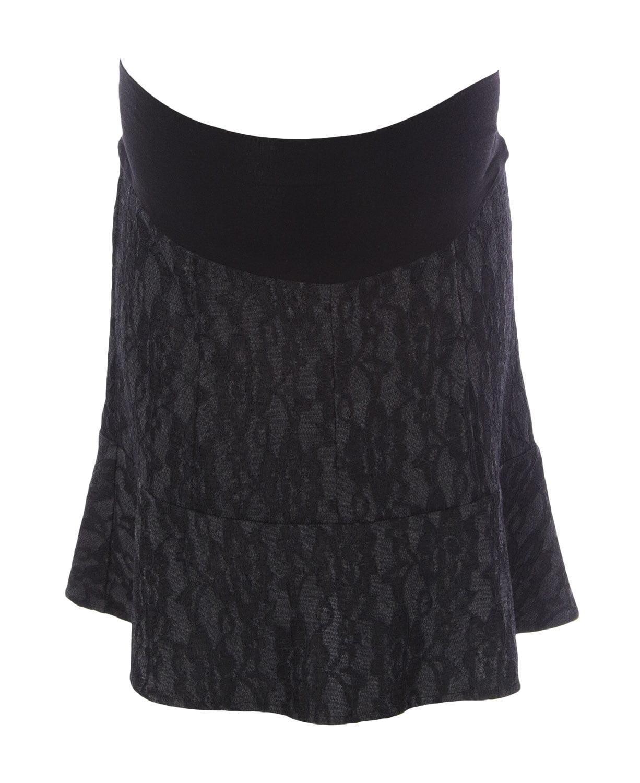 JULES & JIM Maternity Women's Laced Ruffled Skirt, Medium, Grey Black by H13420