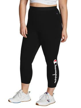 Champion Women's Plus Size Authentic 7/8 Logo Cotton Legging