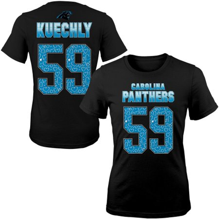 Carolina Panthers Luke Kuechly Girls Youth Fade Route Name & Number