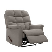 Homesvale Tufted Back Extra Large Wall Hugger Reclining Chair in Plush Low-Pile Velvet