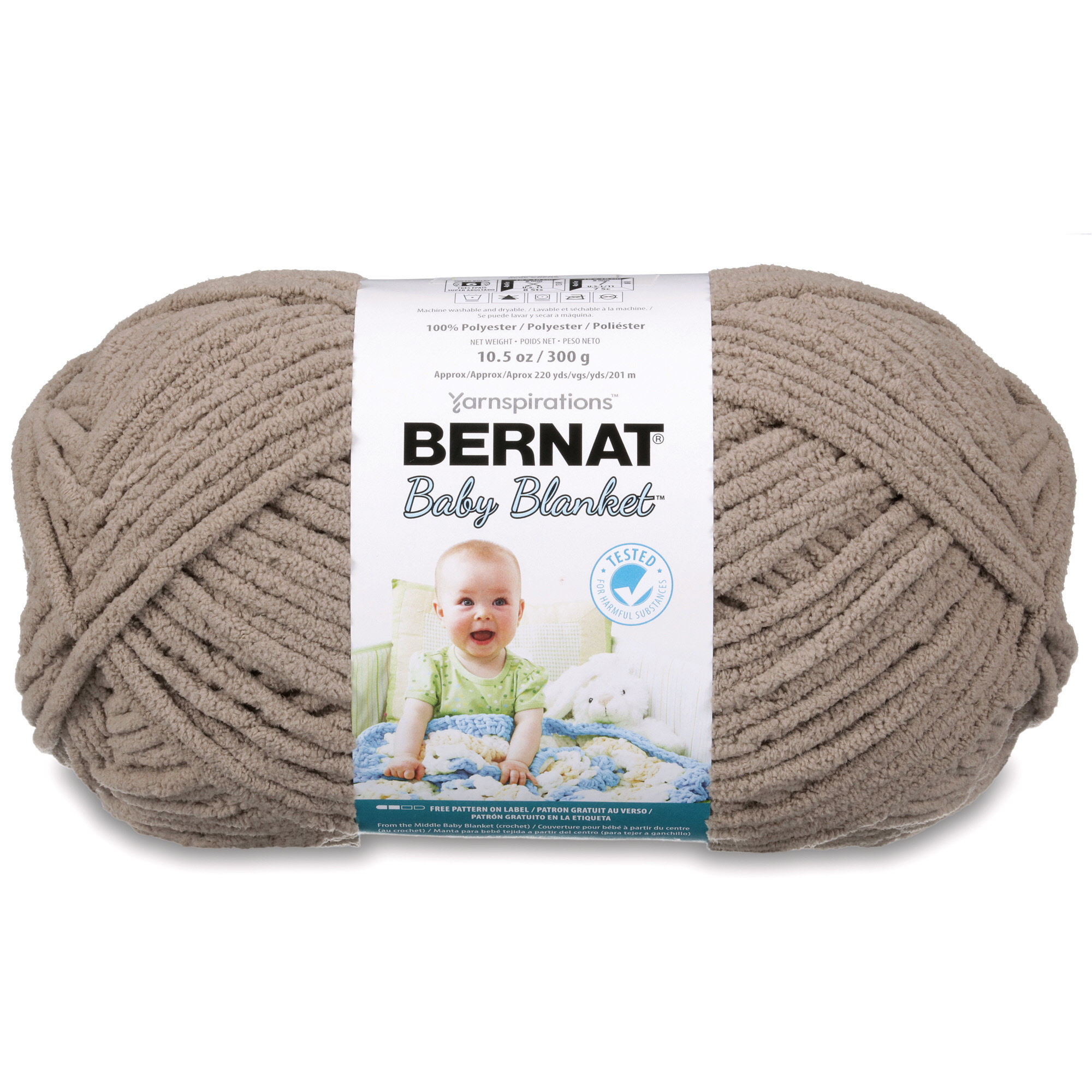 Bernat Baby Blanket Big Ball Yarn, Little Roses