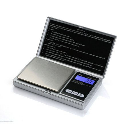Pocket Weighing Scales - American Weigh Scales AWS-1KG Digital Pocket Scale Silver