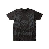 Marvel Comics Black Panther Shadow Big Print Adult Black Subway T-Shirt Tee