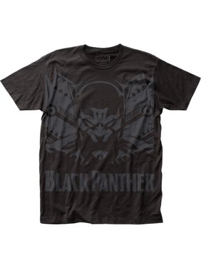 0a1393da Product Image Marvel Comics Black Panther Shadow Big Print Adult Black  Subway T-Shirt Tee
