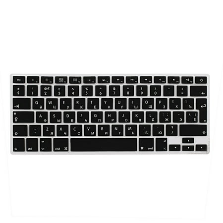 best loved 2d1fe 91017 Russian Silicone Keyboard Skin Cover Black for Apple Macbook Air 13
