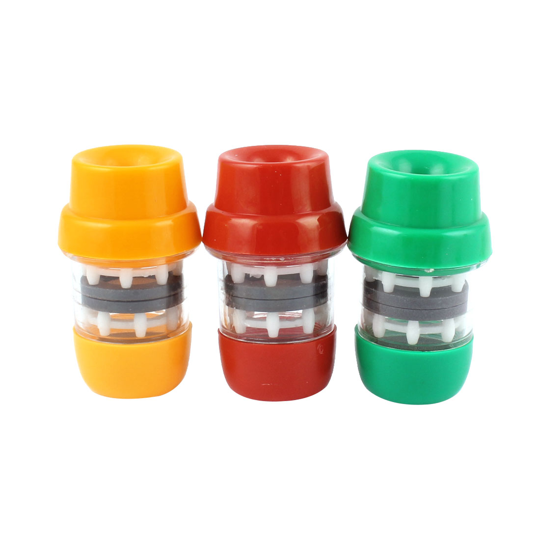 Plastic Health Water Purifying Tap Faucet Magnetic Filter 3pcs Assorted Color
