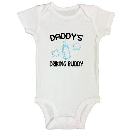 "a8a9ef048693 Funny Threadz Kids - Funny Newborn Kid Tshirts ""Daddy's Drinking Buddy"" Dad  Gift Body Suit Funny Threadz Toddler 12M, White - Walmart.com"