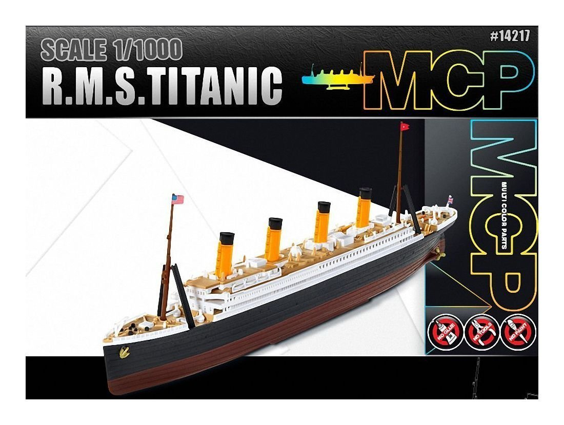 1 1000 R M S Titanic Mcp Multi Color Parts 14217 Academy Model
