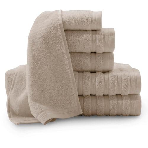Pure Elegance 100 Percent Turkish Cotton 6-Piece Luxury Towel Set Collection by Baltic Linen Co.