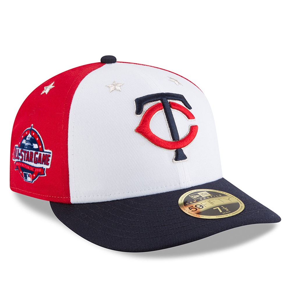Minnesota Twins New Era 2018 MLB All-Star Game On-Field Low Profile 59FIFTY Fitted Hat - White/Navy