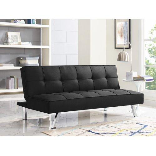 Details About Serta Convertible Sofa Futon Lounger Sleeper Couch Plush Comfort Black S3lu2