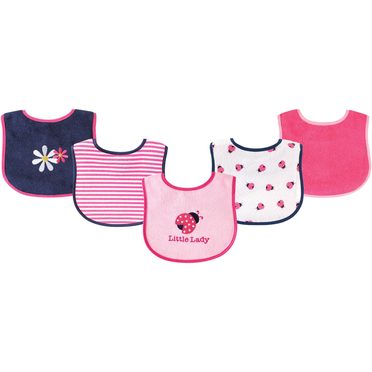 6 x 7.5 Yellow//Gray 10 Count Luvable Friends Baby Bibs Value Pack