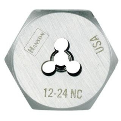 Hex Die,High Carbon Steel,RH,8-32 IRWIN HANSON 6424
