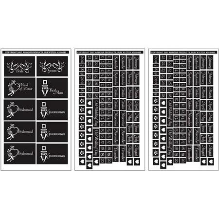 Free Glass Etching Stencils (Rub 'N' Etch Designer Stencils 5