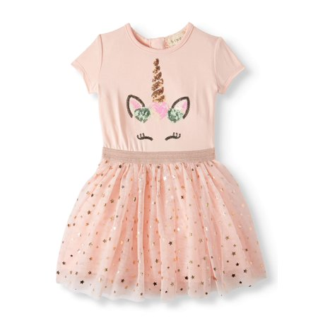Btween Short Sleeve Tulle Tutu Dress (Toddler Girls)](Tutu Dress Girl)