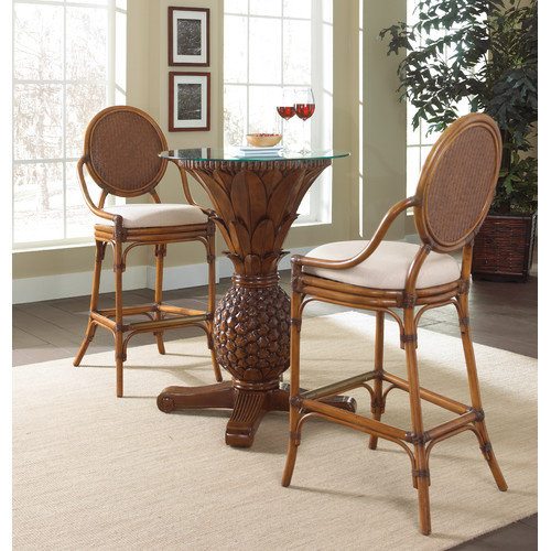 Hospitality Rattan Oyster Bay 3 Piece Pub Table Set