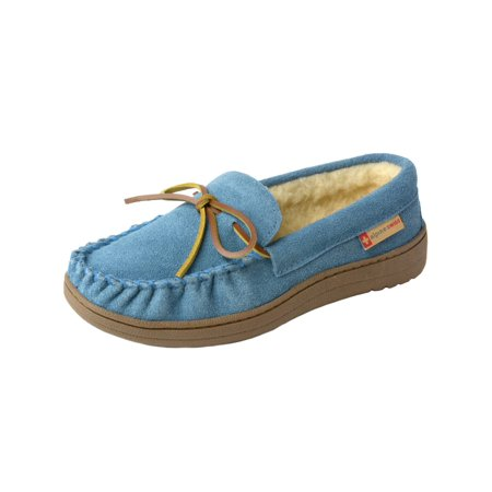 c89c3be8e Alpine Swiss Sabine Womens Suede Shearling Moccasin Slippers House Shoes  Slip On