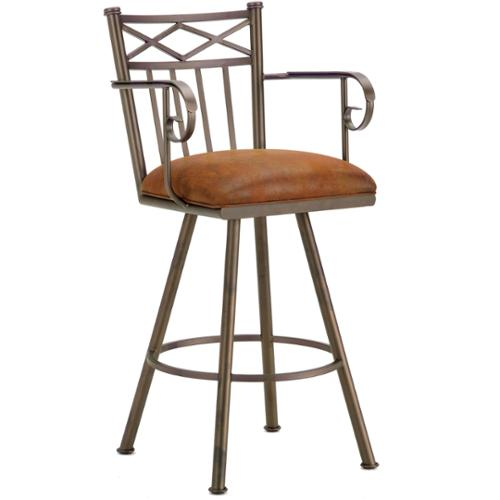 DFI Alexander Steel Swivel Bar Stool with Arms