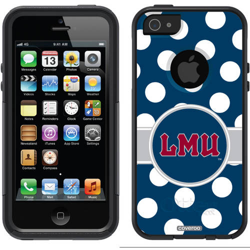 Loyola Marymount Polka Dots Design on OtterBox Commuter Series Case for Apple iPhone 5/5s