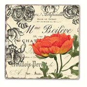Counter Art CART11823 Vintage Floral Single Tumbled Tile Coaster