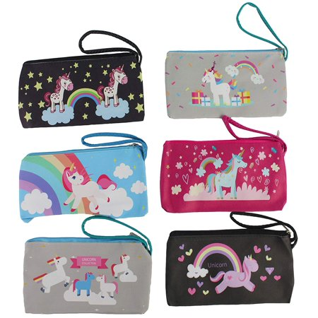 12 Pack of Multi-Color; Multi-Style Fashionably in-Style Toy Unicorn Purse ( Color and Styles May Vary ) ()