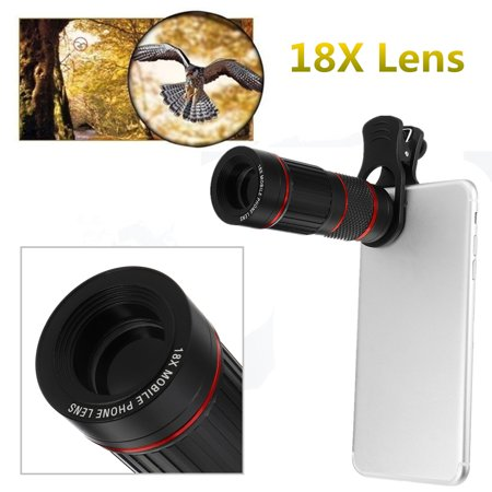18X Cellphone Camera Lens Universal High Definition Zoom Focus Mobile Phone Lens Clip-on Telescope for