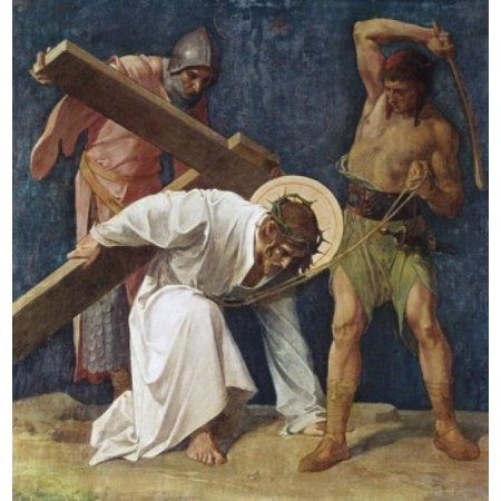 Jesus Falls the First Time 1898 Martin Feuerstein Saint Anna Church Munich Germany Poster Print