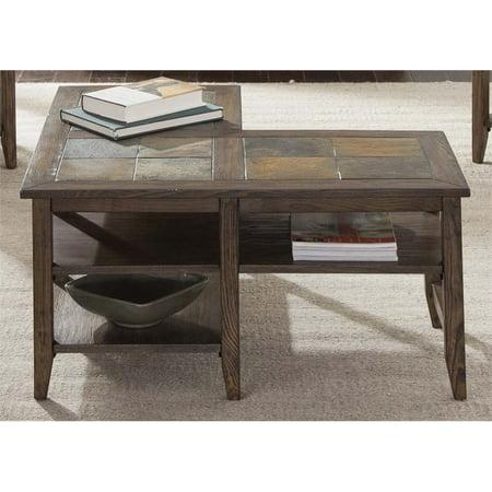 Liberty Furniture Brookstone L Shaped Coffee Table In Weathered Oak