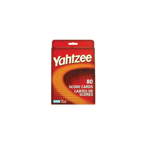 Yahtzee 80 Score Cards 1 Pack multi none, ship from USA,Brand Milton Bradley by