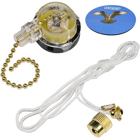 HQRP Switch 3-Speed Pull Chain Control Ceiling Fan for Harbor Breeze Ceiling Fan + HQRP Coaster