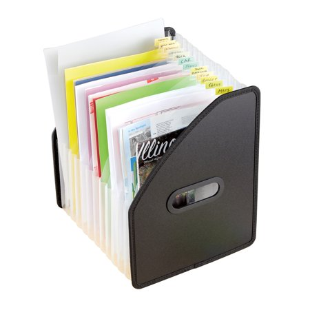 Space Saving Vertical 13 Pocket Expanding File for Office Organization - Includes Handles for Easy Transportation