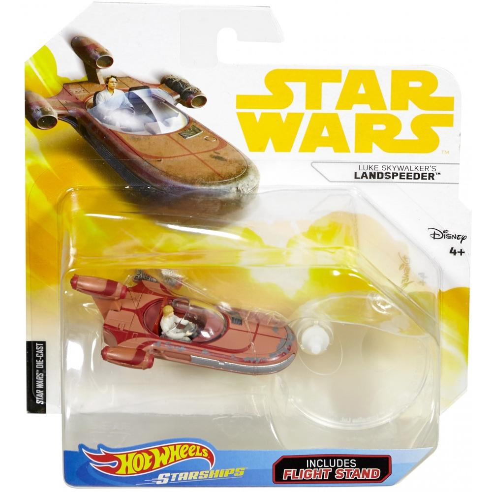 Hot Wheels Star Wars Starships Landspeeder with Luke Skywalker
