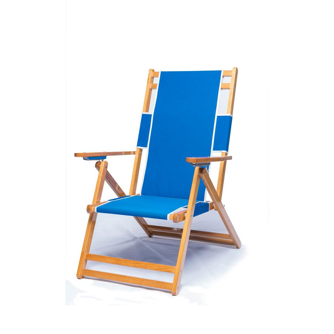 Heavy Duty Commercial Grade Oak Wood Beach Chair / Chaise Lounger