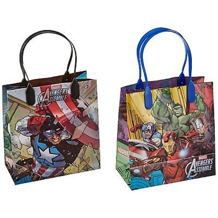 12PCS Marvel Avengers Assemble Goodie Party Favor Gift Birthday Loot Bags - Homemade Halloween Loot Bags