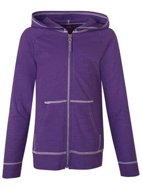 c8b483db5babd Product Image Girls  Slub Jersey Zip Hoodie