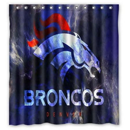 DEYOU Denver Broncos Shower Curtain Polyester Fabric Bathroom Size 60x72 Inch