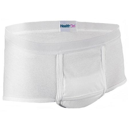 ee026008bebd Salk - HealthDri Mens Breathable Reusable Briefs, Heavy, Large - 1 Each -  Walmart.com