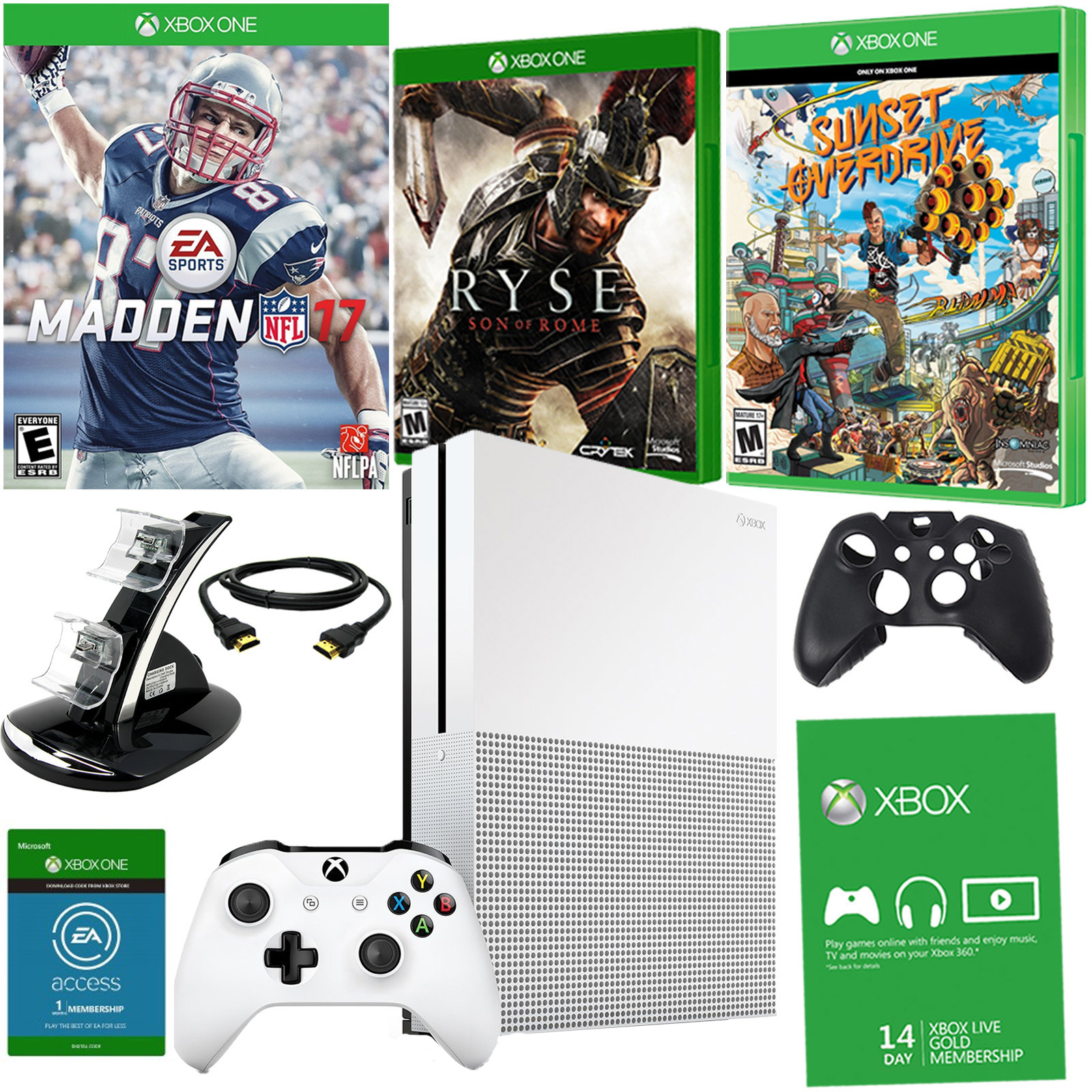 Xbox One S 1TB With NFL 2017, Ryse, and Sunset Overdrive
