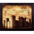 Framed Art-My Fortress: Psalm 18 (10 X 12) (Life Verse Design)