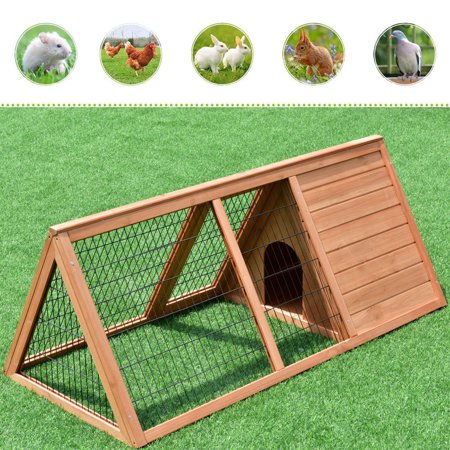 "Zimtown 50"" Pet House Wood Outdoor Backyard Rabbit Hutch Bunny Pig Small Animal Pet Cage Chicken Coop with Run"