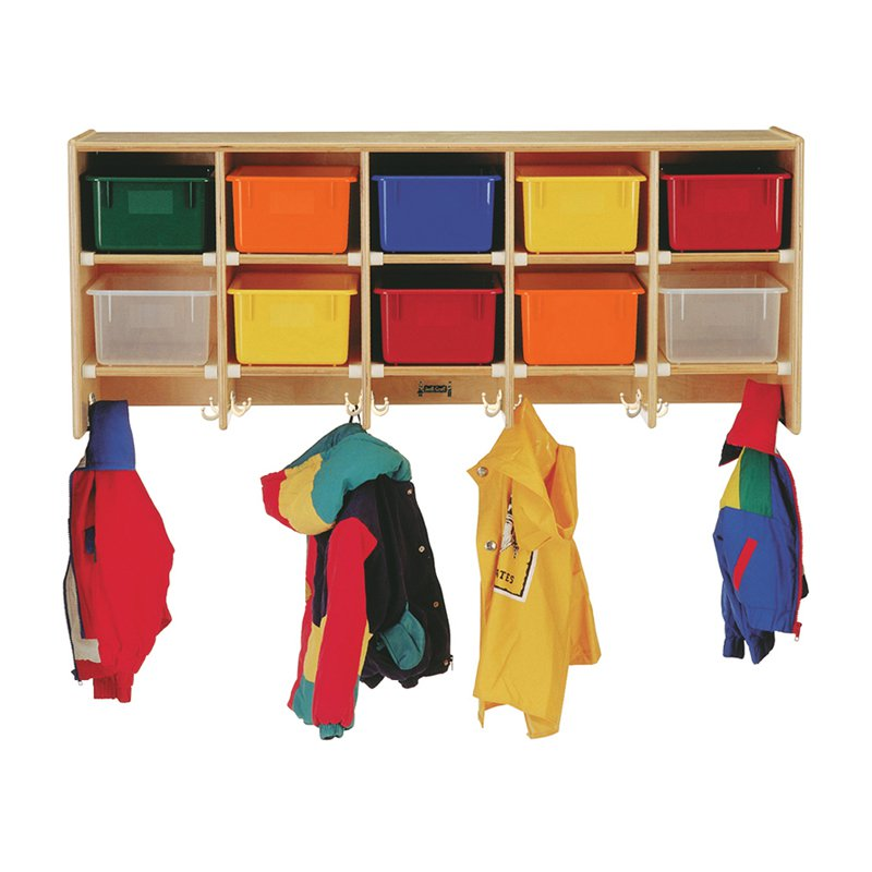 Coat Locker - Large Wall Mount With Clear Trays