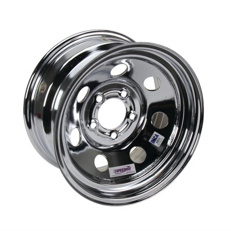 15 X 8 Wheels (15 x 8 IMCA Chrome Racing Wheel 2 BS, Non-Beadlock, 5 on 4-3/4 BP )