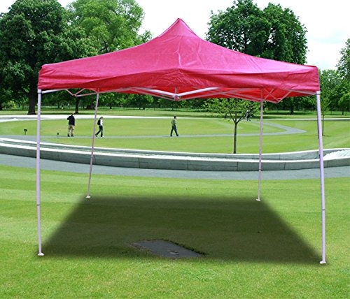 New MTN-G Deluxe Pink EZ Canopy Pop Up Tent 10 X 10' Gazebo &