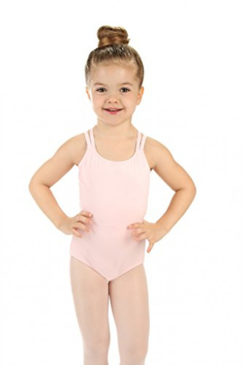 Elowel Girls' Double Strap Camisole Leotard Black (size-2-4 )