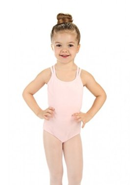 Elowel Girls' Double Strap Camisole Leotard Nude Pink (size 6-8 )
