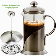 OVENTE FSL34S French Press Coffee and Tea Maker, 34-Ounce, Leaf