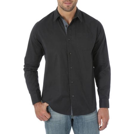 Jeans Co Men's Long Sleeve Woven Shirt